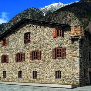 "Landmark stone building ""Casa de la Vall"""