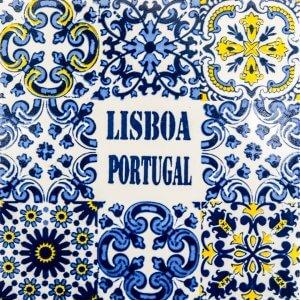 Close up on decorative ceramic tile