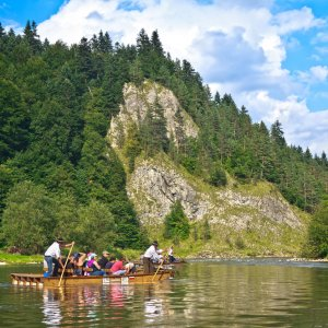 Rafting at river Dunajec