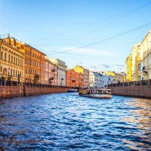 43524493 – moyka river in saint petersburg, russia