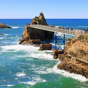The rock of the virgin in Biarritz.
